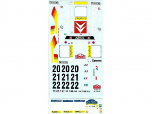 C.B.COM decal 24.154 Xsara WRC catalogne 2002 1/24