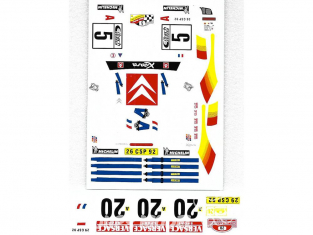 C.B.COM decal 24.140 Xsara WRC 2em san remo 2001 1/24