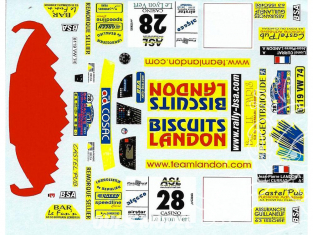 C.B.COM decal cb24 Peugeot 306 Maxi Kit Car Landon Currat Lyon Charbo 2002 1/24