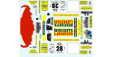 C.B.COM decal cb24 Peugeot 306 Maxi Kit Car Landon Currat Lyon Charbo 2002 1/24
