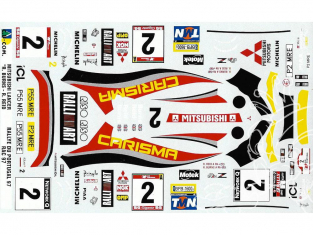 C.B.COM decal 24.45 Mitsubishi Evo.IV Burns Reid portugal Rac 1997 1/24