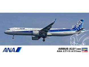 Hasegawa maquette avion 10826 ANA Airbus A 321 neo 1/200
