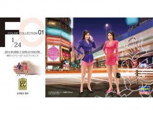 Hasegawa maquette voiture 29101 80's Baby Girls Figurine (jeu de 2 pièces) 1/24