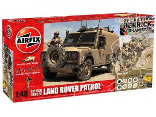 Airfix maquette coffret 50121 Forces britanniques land rover et 8 soldats operation Herrick Afghanistan 1/48