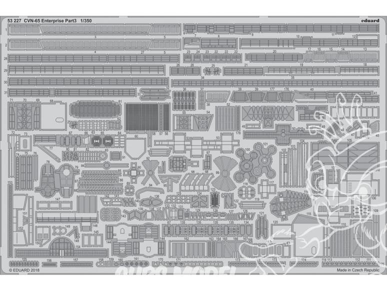 Eduard photodecoupe bateau 53227 CVN-65 USS Enterprise Partie 3 Tamiya 1/350