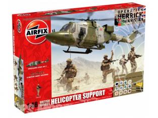 Airfix maquette coffret 50122 Forces britanniques 8 soldats et hélico en support operation Herrick Afghanistan 1/48