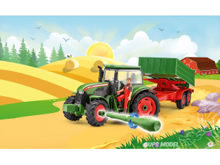 REVELL MAQUETTE ENFANT 00817 Tracteur et remorque avec figurine JUNIOR KIT