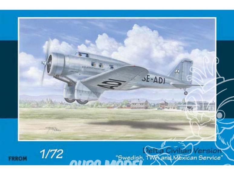 """Frrom maquettes avions 0032 Delta Civilian Version """"Swedish, TWA and Mexican Service"""" 1/72"""