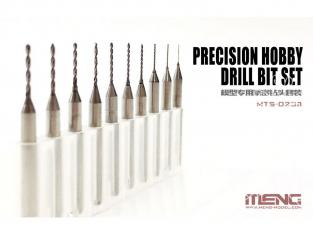 MENG MTS-023A Jeu de 10 forets de 0.4 a 1.3mm pour MTS-023