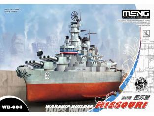 Meng maquette sous marin WB-004 Cuirassé Missouri navire de guerre Cartoon