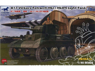 "Bronco maquette militaire CB35210 CHAR LÉGER BRITANNIQUE A17 VICKERS ""TETRACH"" Mk.I / Mk.ICS 1/35"