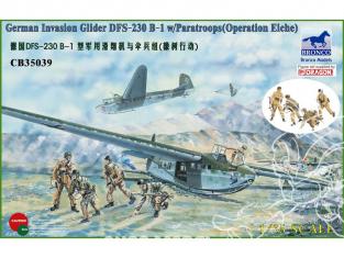 Bronco maquette avion CB 35039 DFS 230 B-1 PLANEUR D'ASSAUT TACTIQUE ALLEMAND 1940/1944 (avec 4 parachutistes) 1/35