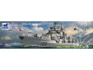 "Bronco maquette bateau BB 2002 DESTROYER CHINOIS DDG 139 ""NINGPO"" TYPE 956EM classe Sovremenniy 2005 1/200"