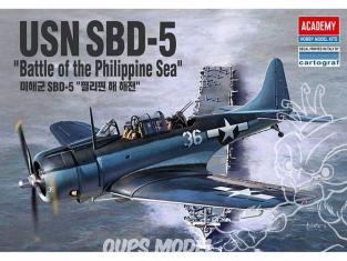 Academy maquette avion 12329 USN SBD-5 Bataille dans la mer des philippines 1/48