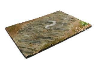 Vallejo Bases de diorama SC102 Surface d'aérodrome en bois 31x21cm 1/35 1/48