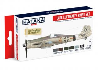 Hataka Hobby peinture acrylique Red Line AS03 Set Luftwaffe Fin de Guerre 4 x 17ml