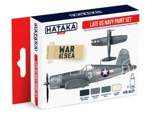 Hataka Hobby peinture acrylique Red Line AS05 Set Late US Navy 4 x 17ml