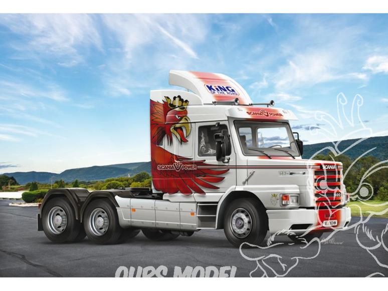 Italeri maquette camion 3937 Scania T143H 6x2 1/24
