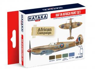 Hataka Hobby peinture acrylique Red Line AS08 Set RAF - Royal Air Force en Afrique 4 x 17ml