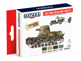 Hataka Hobby peinture acrylique Red Line AS11 Set Polish Army Early WWII 4 x 17ml