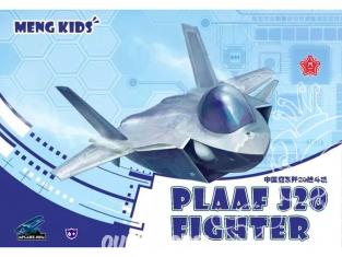 Meng maquette avion MP005S Plaaf J20 fIGHTER KITS FOR KIDS SERIE