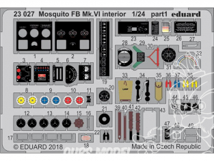 Eduard photodecoupe avion 23027 Intérieur Mosquito FB Mk.VI Airfix 1/24