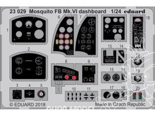 Eduard photodecoupe avion 23029 Tableau de bord Mosquito FB Mk.VI Airfix 1/24