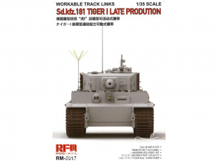 Rye Field Model maquette militaire 5017 Chenilles Sd.Kfz.181 Tiger I Late Production (Chenilles maillon par maillon) 1/35