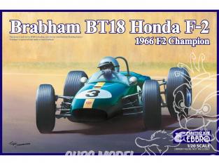 Ebbro maquette voiture 20022 Brabham BT18 Honda F-2 1966 F2 Champion 1/20
