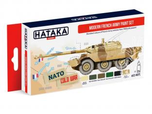 Hataka Hobby peinture acrylique Red Line AS25 Set Armée Française moderne 6 x 17ml