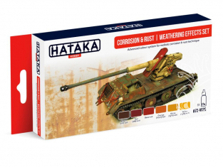Hataka Hobby peinture acrylique Red Line AS26 Set effet Weathering Corrosion & Rouille 6 x 17ml