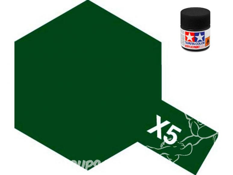 peinture maquette tamiya x05 vert brillant