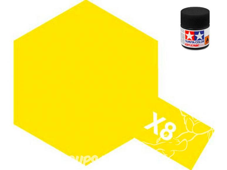 peinture maquette tamiya x08 jaune brillant