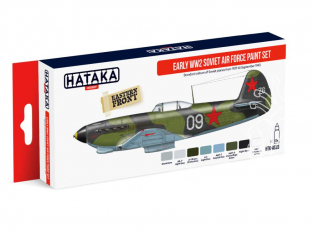 Hataka Hobby peinture acrylique Red Line AS33 Set Early WWII Soviet Air Force 8 x 17ml