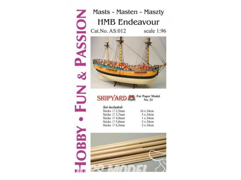 Vessel AS:012 Accessoires pour la fabrication de mâts HMB Endeavour 33 1/96