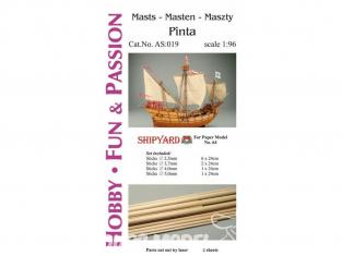 Shipyard AS:019 Accessoires pour la fabrication de mâts et accastillage Pinta 64 1/96