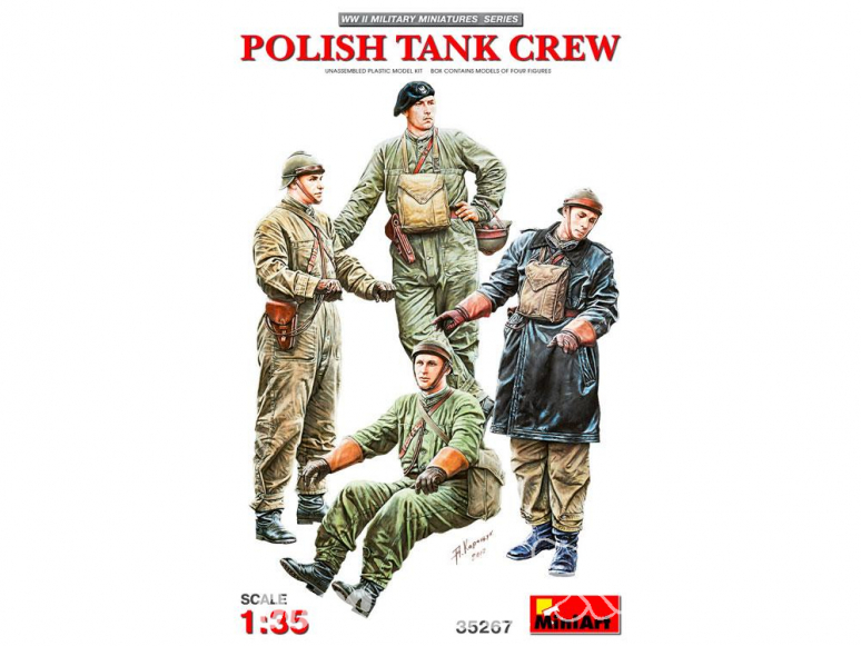 Mini Art maquette militaire 35267 Equipage de char polonais WWII 1/35