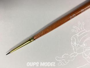Oupsmodel 1233 Pinceau poils de poney n°2/0