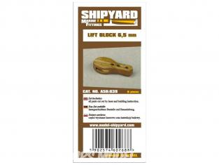 Shipyard ASB:039 Poulies de levage 6,5mm 8piéces