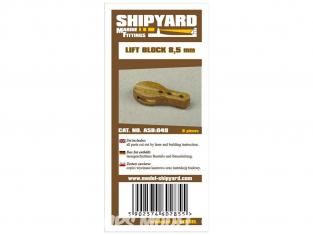 Shipyard ASB:049 Poulies de levage 8,5mm 8piéces