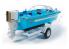 MPC maquette bateau 883 Bateau Hydro-Vee avec moteur hors board detaillé 1/18