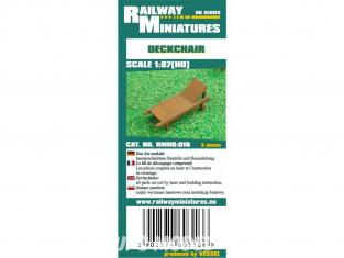Railway Miniatures RMHO:016 Chaise longue 2piéce HO 1/87