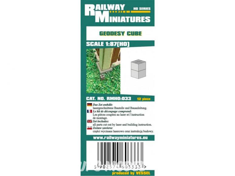 Railway Miniatures RMHO:033 Cube de géodésie 12piéce HO 1/87