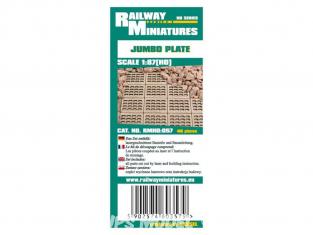 Railway Miniatures RMHO:057 Stabilisateur de gravier Jumbo 40piéce HO 1/87