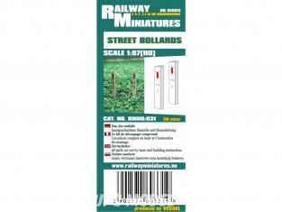 Railway Miniatures RMHO:031 Balises de signalisation routière 20piéce HO 1/87