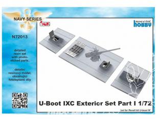 Cmk kit d'amelioration N72013 U-Boot IX set exterieur I kit revell 1/72