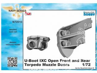 Cmk kit d'amelioration N72010 Portes de museau de torpille ouvertes U-Boot IX ouvertes kit revell 1/72