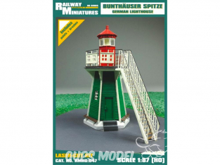 Railway Miniatures RMHO:047 Phare Leuchtfeuer Bunthaus Allemagne HO 1/87