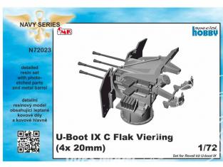 Cmk kit d'amelioration N72023 Conversion de Flak-Vierling U-Boot IX kit revell 1/72