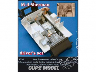 cmk 3026 KIT D'AMELIORATION SHERMAN M4 1/35